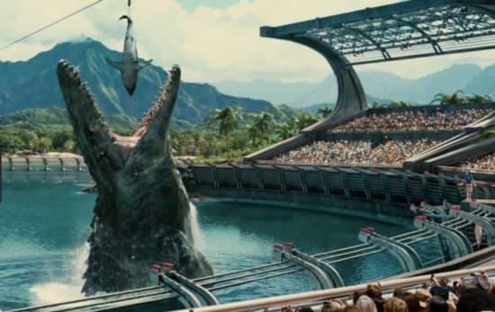ジュラシックワールドのモササウルス大きさ